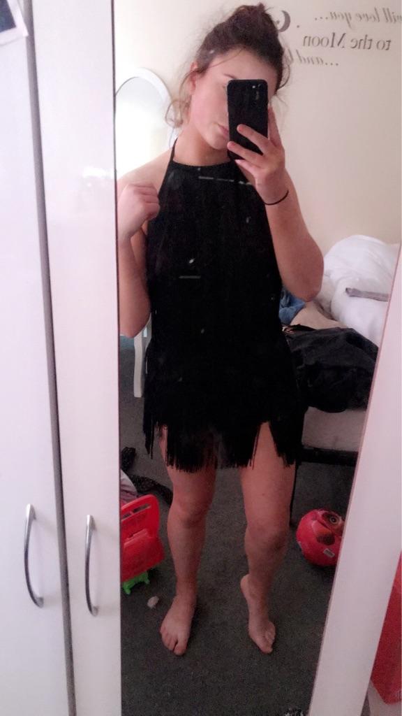 Tassel dress from pretty little thing