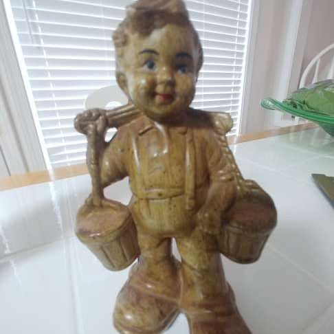 Hand made wooden Hummel boy