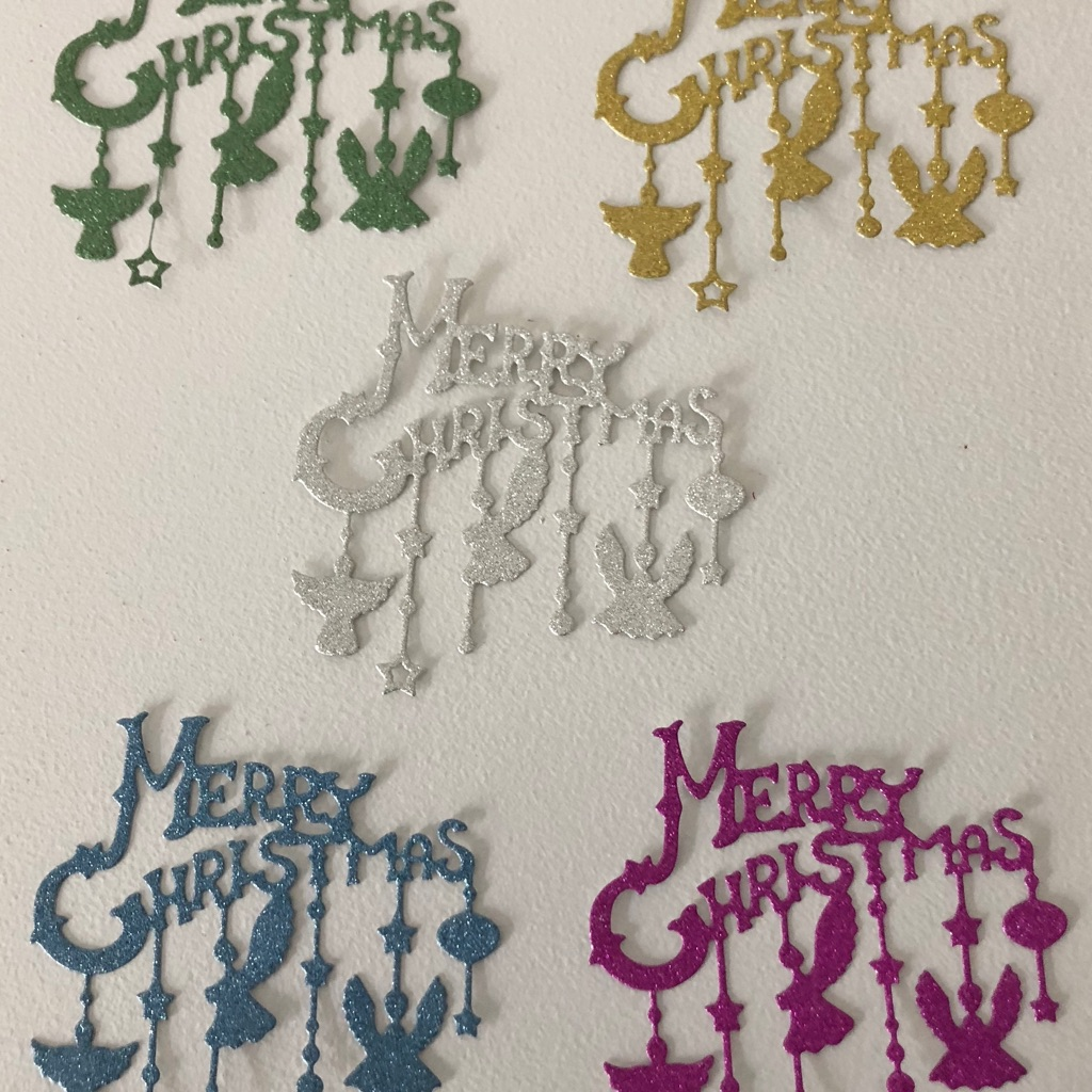 5 x Christmas Die cut-outs for crafts, card making etc