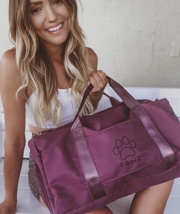 Berry duffel bag