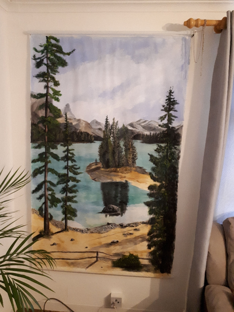 Original painting on blind.