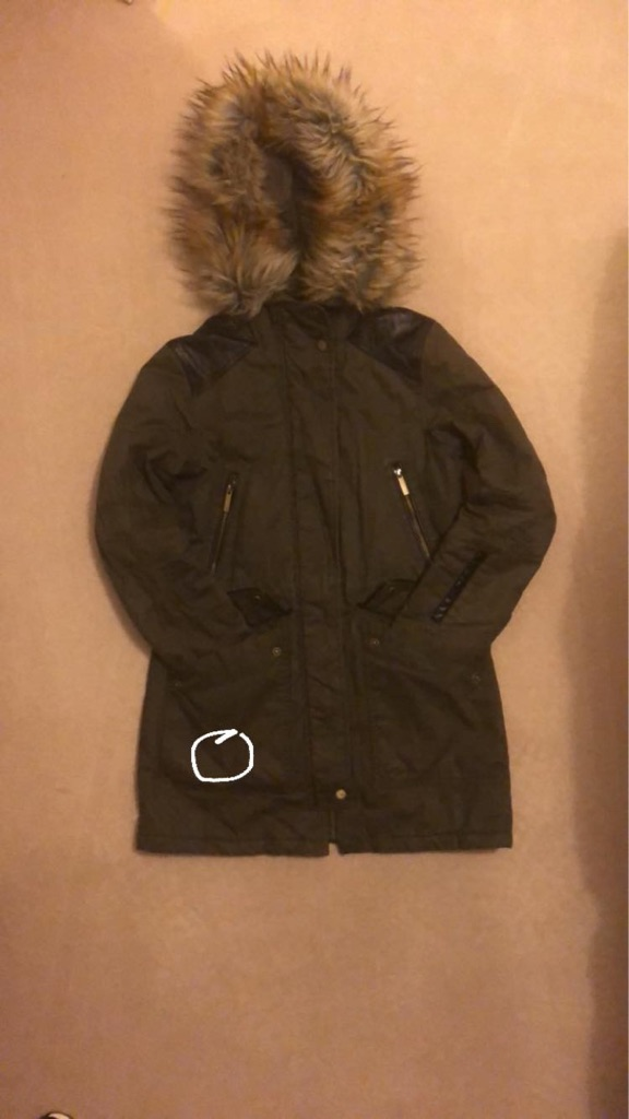 Ladies/Teen French Connection Parka XS (8)