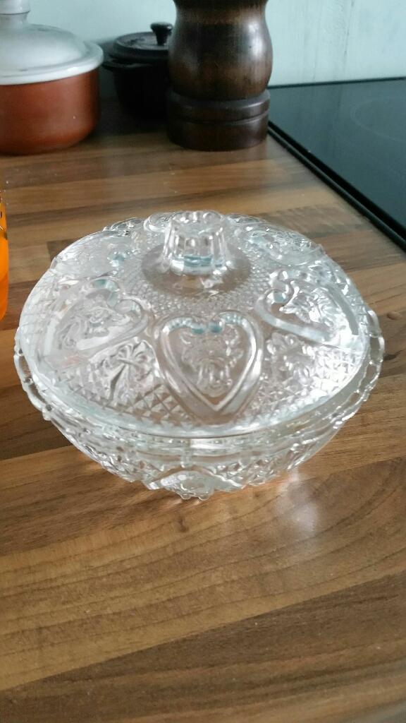Glass heart dish