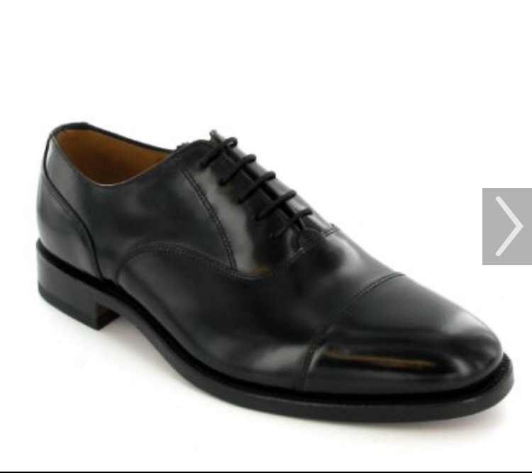 Men's Loake Formal Black Leather Shoe