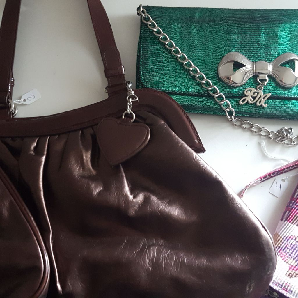 LANCOME BAG Green evening And Wallet