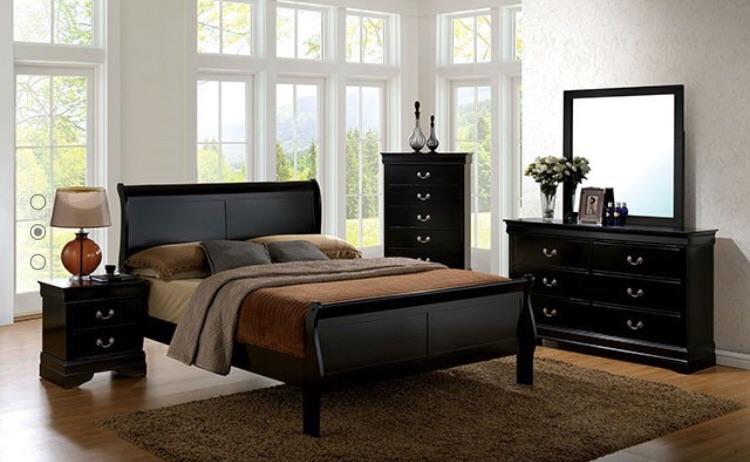 New Black Wood Bedframe