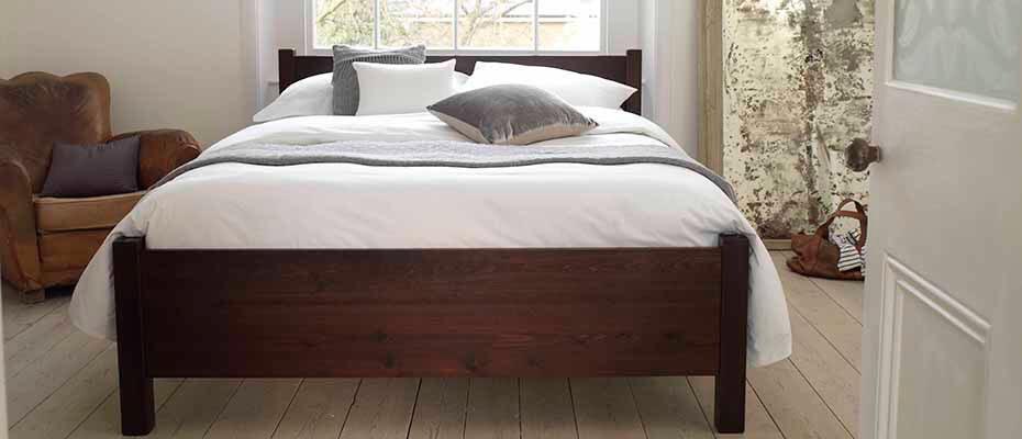 Solid wooden bed frame - superking