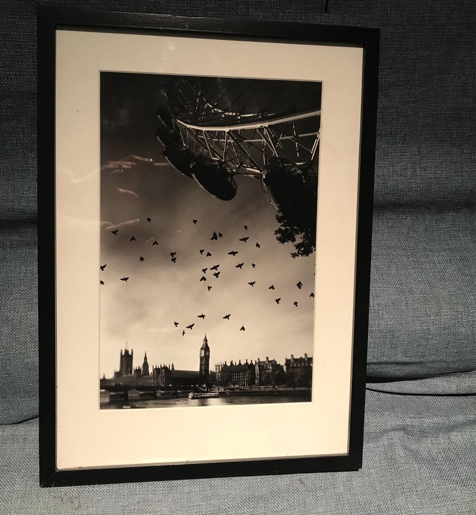 Limited edition london skyline print - Big Ben, London Eye, Westminster