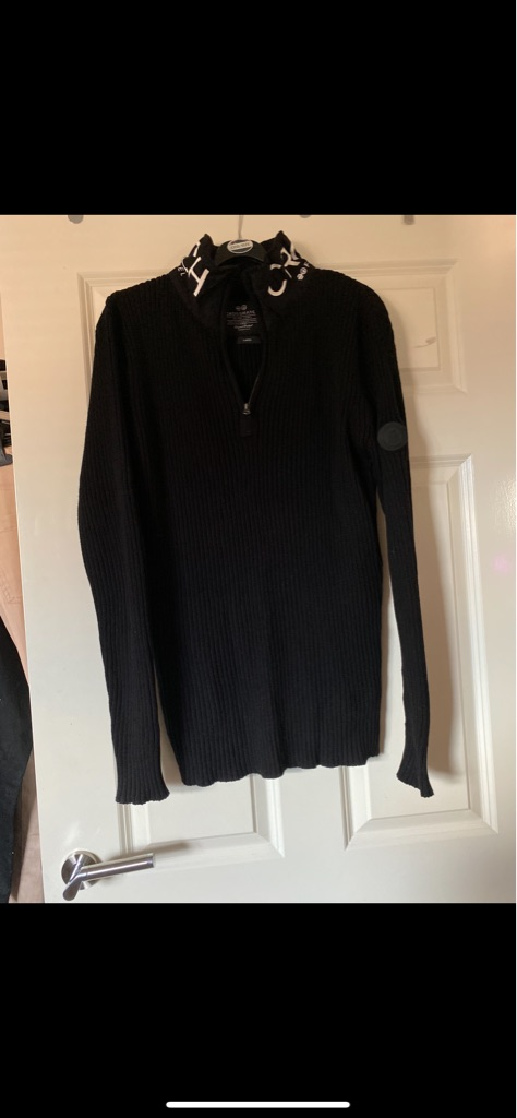 Men's brand new black Crosshatch jumper Large