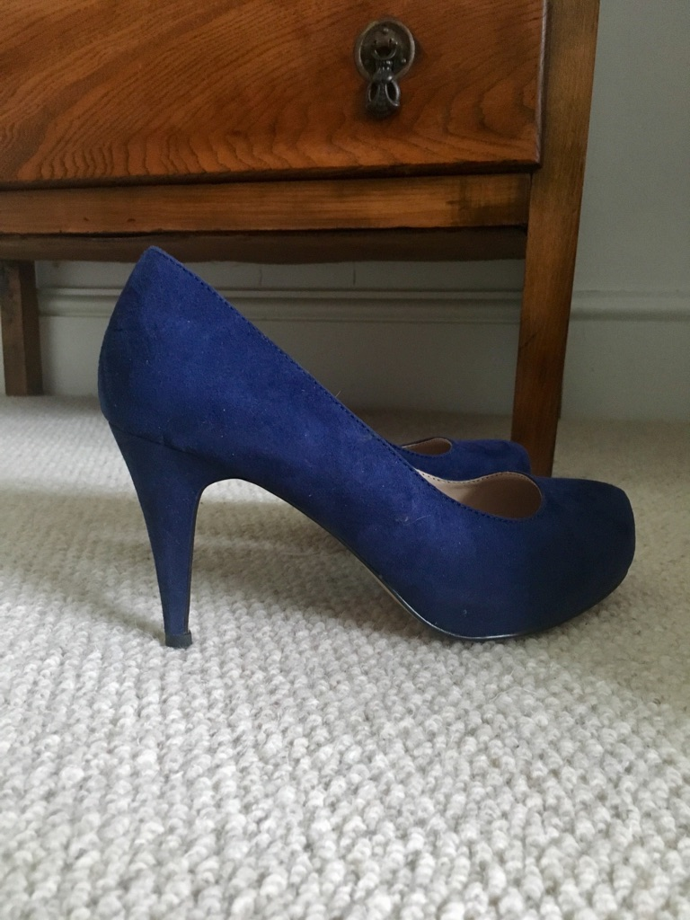 Carvela by Kurt Geiger blue suede shoes