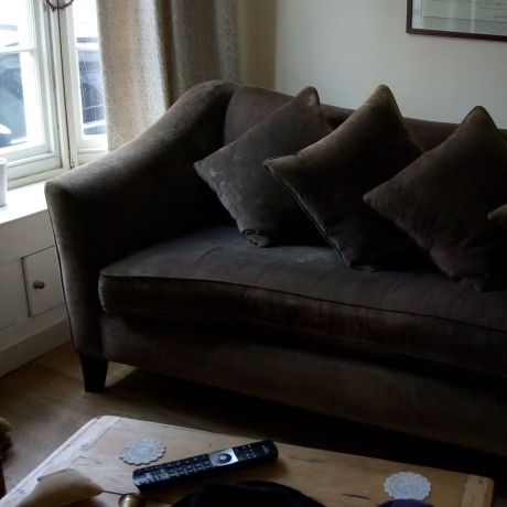 Beautiful chocolate brown 3 seater sofa