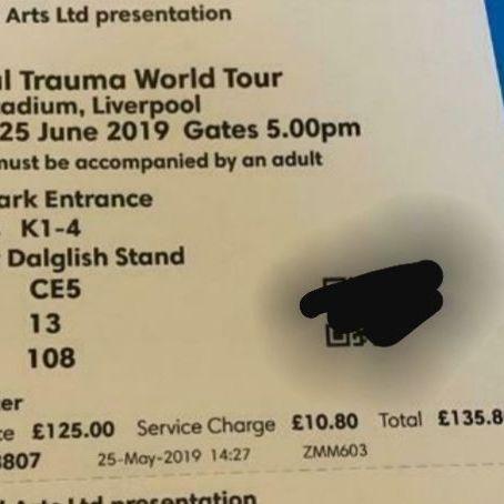 3 x pink tickets