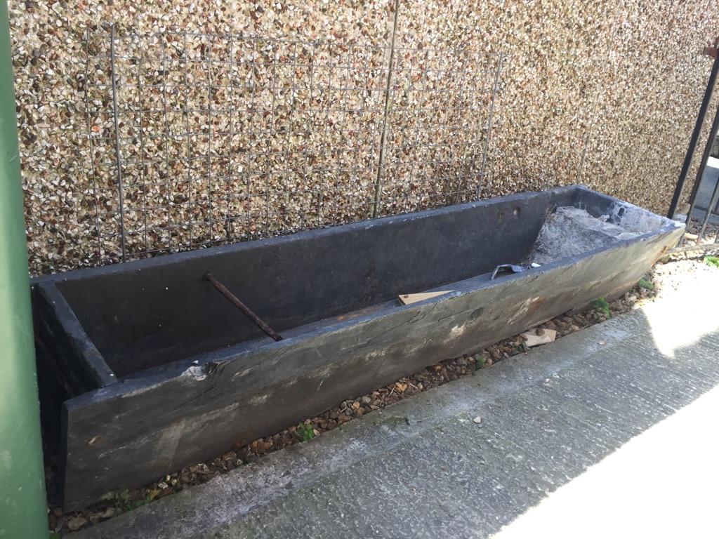 Solid slate Victorian trough