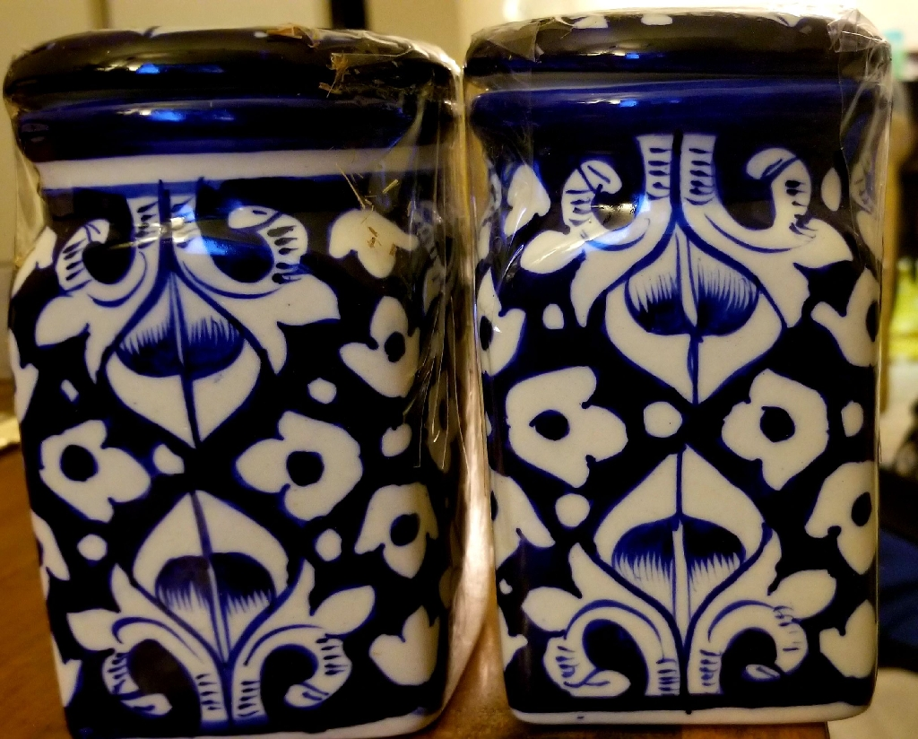 Hand-Painted Jars (set of 2)