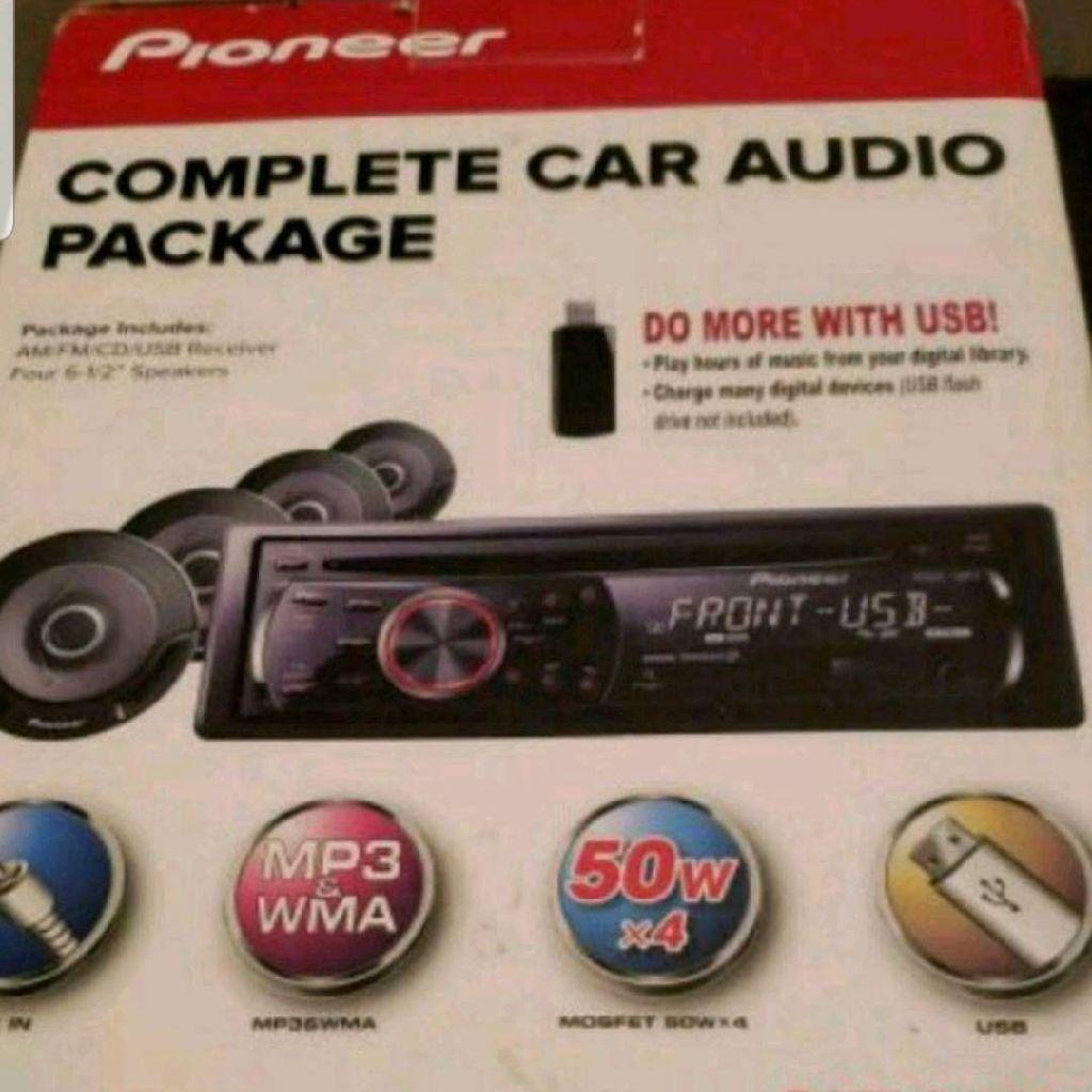 Pioneer radio and speaker set