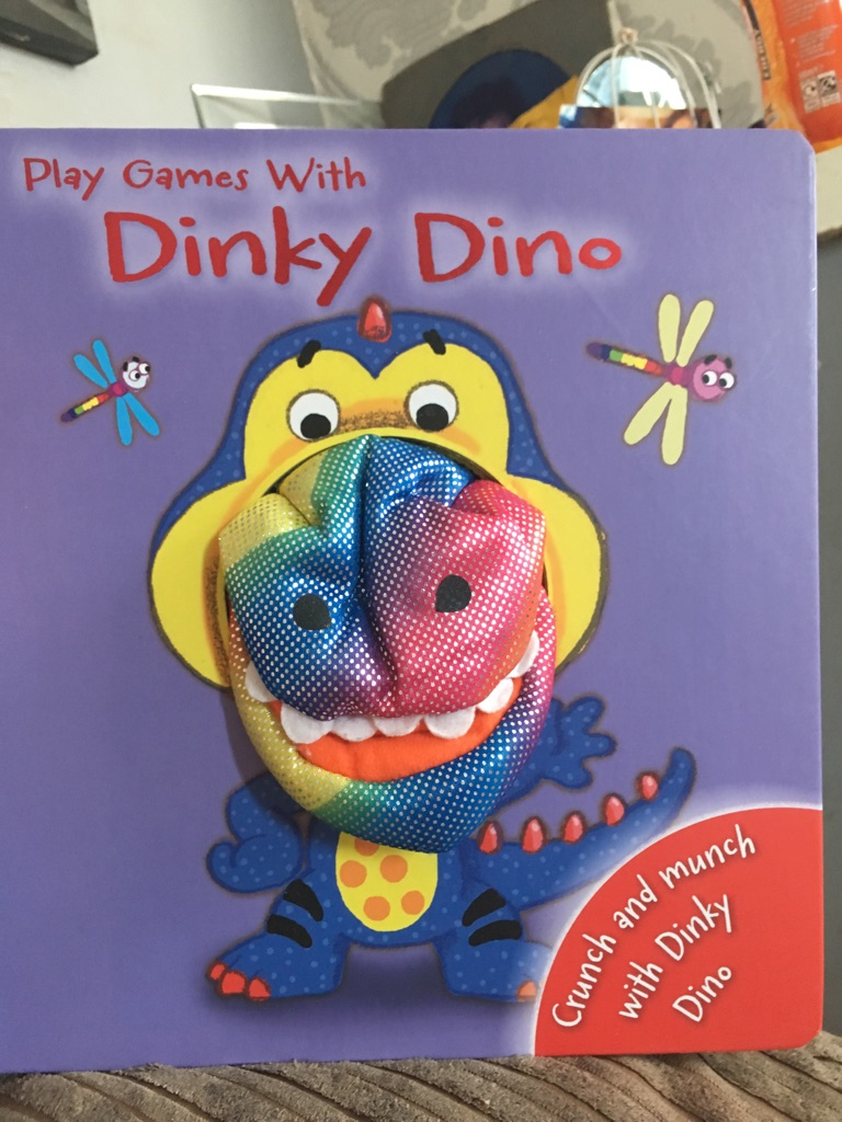 Play games with dinky Dino book