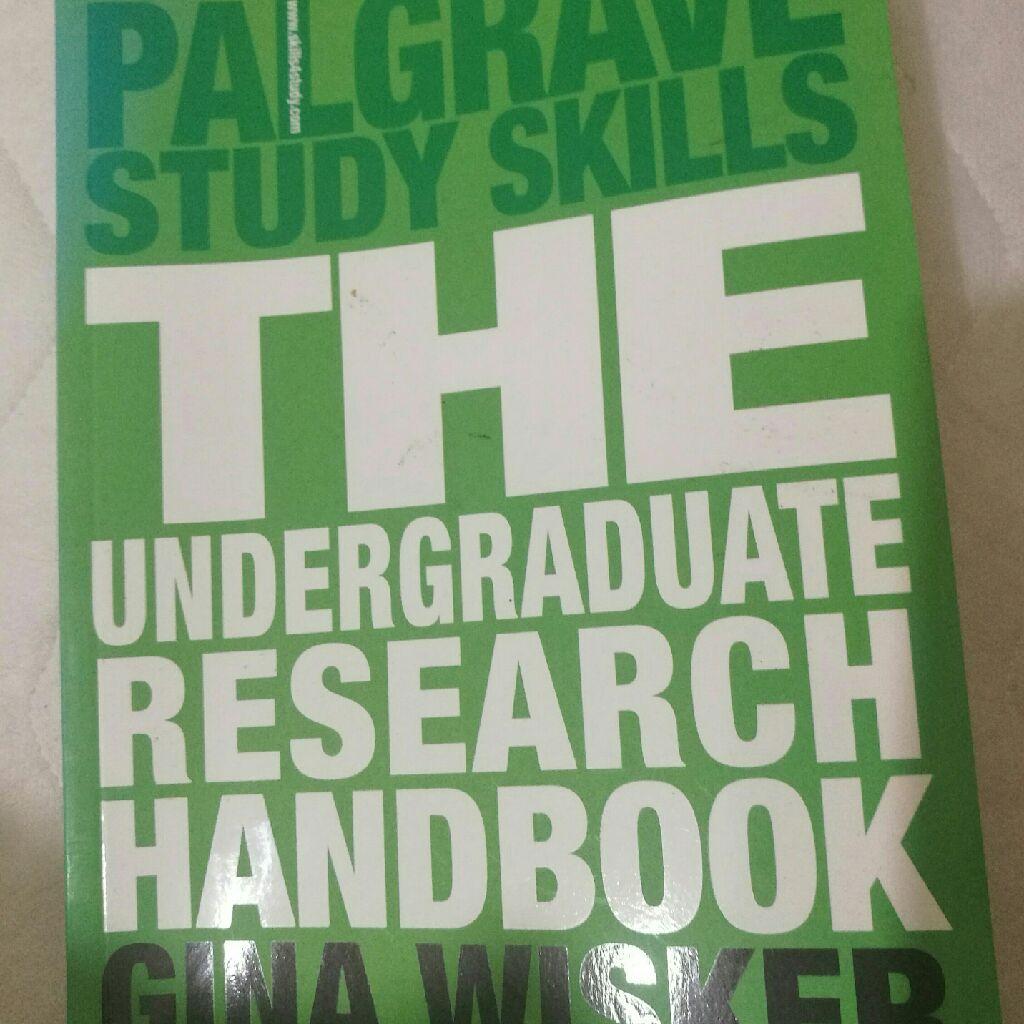 The undergraduate research book
