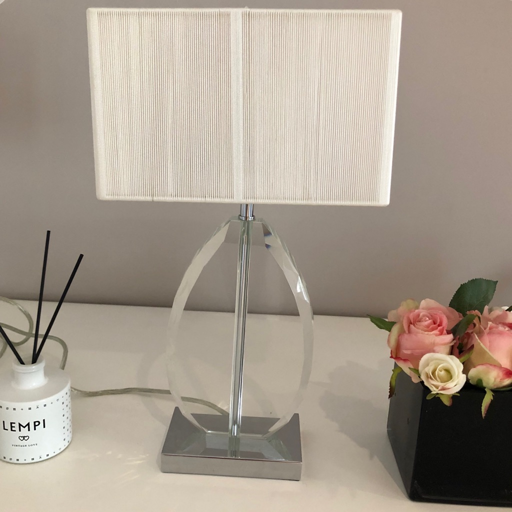 John Lewis Crystal Lamp with Cream Shade