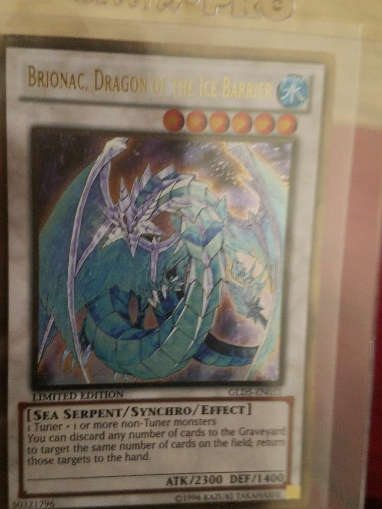 Yu-Gi-Oh Ice Barrier Synchro Dragon Card Mint Condition