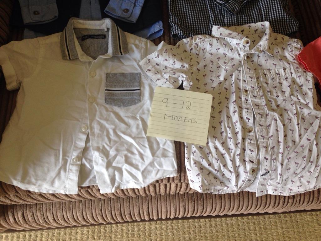 Boys long and short sleeve shirts.