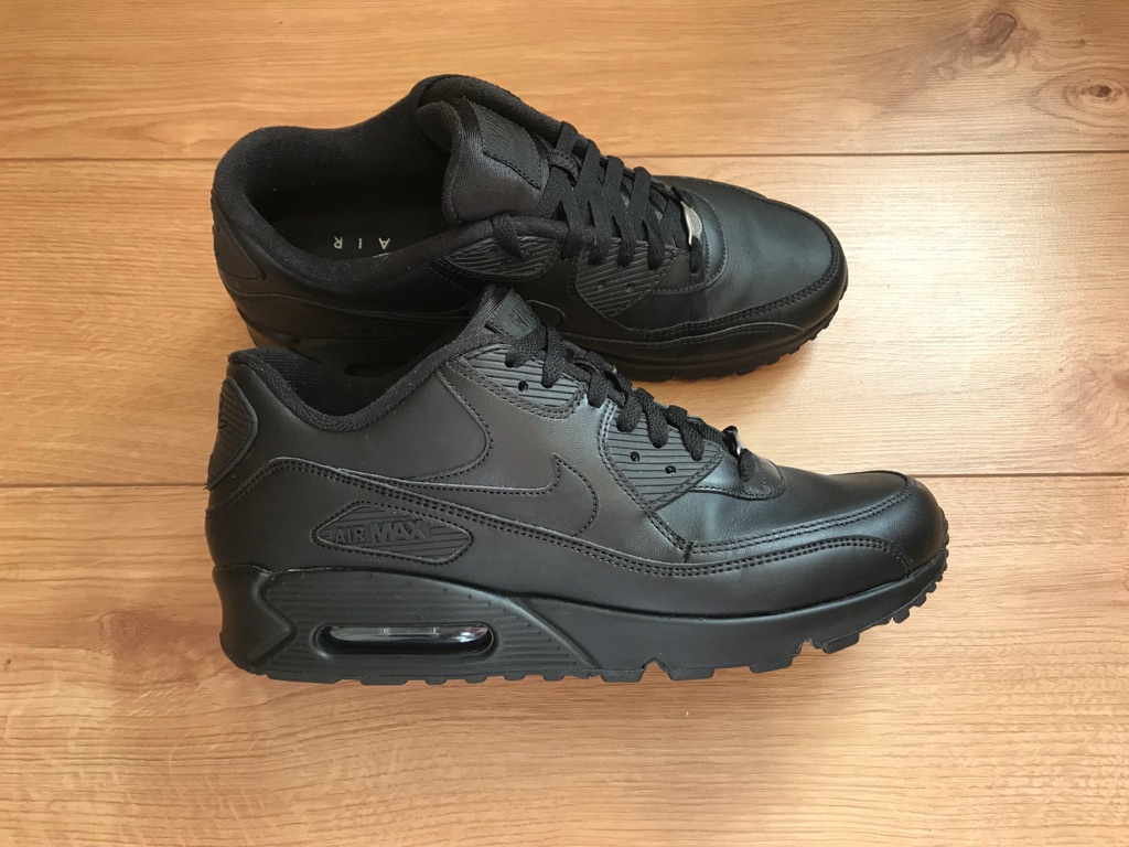 Nike Black Air Max 90 Leather