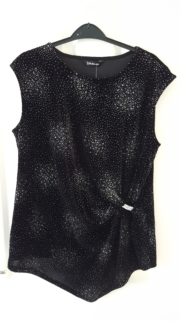 Kaleidoscope black sparkle top