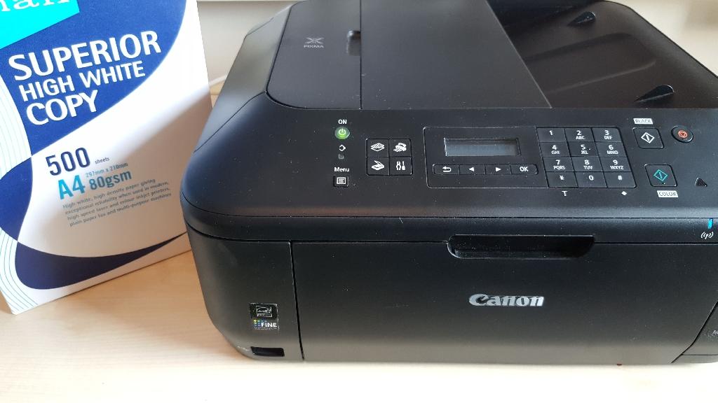 Canon printer PIXMA MX535 with 500 A4 sheets