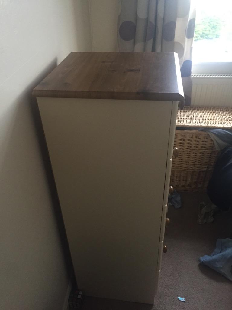 Solid oak wardrobe set
