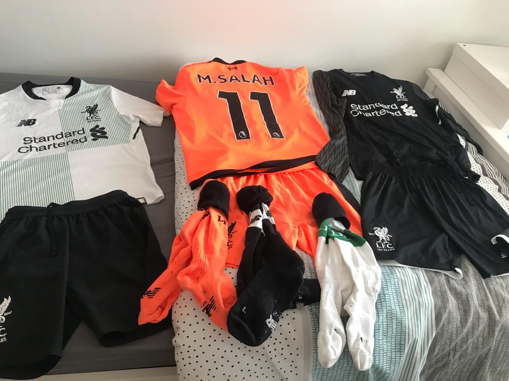 3 x Original LFC Footy Kits