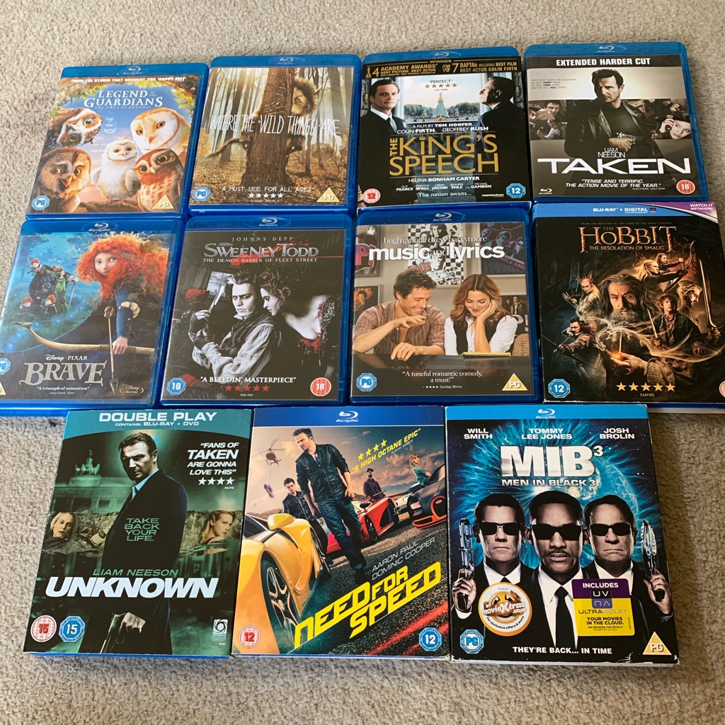 Blu-Ray DVD's for sale.