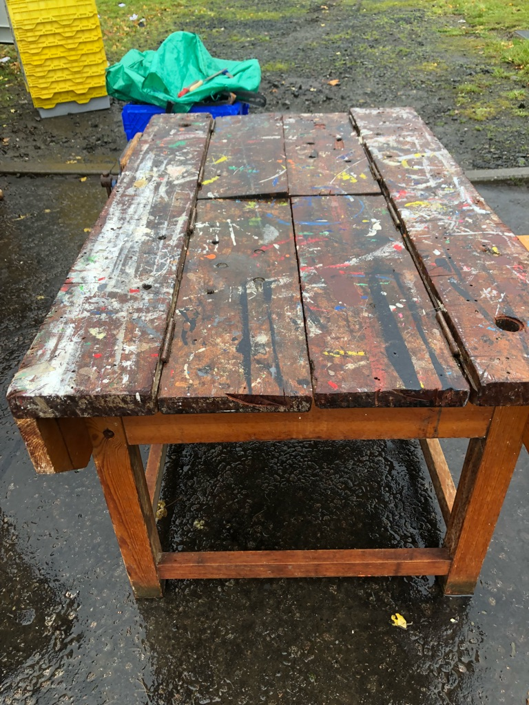 Woodwork benches