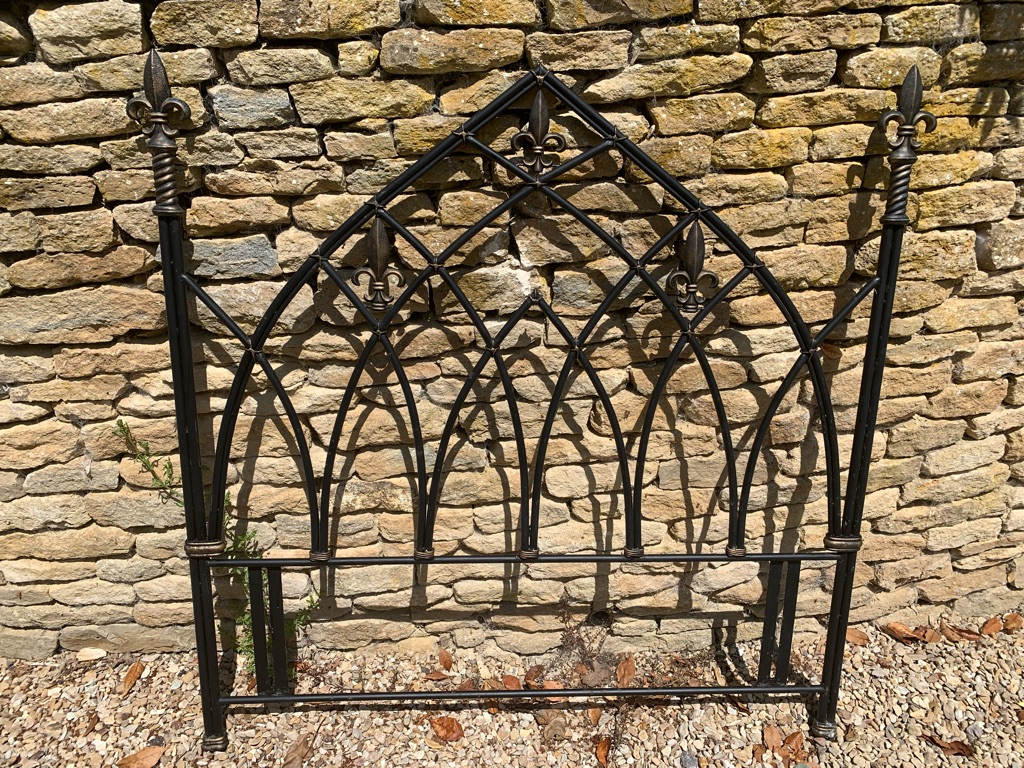 Decorative iron headboard