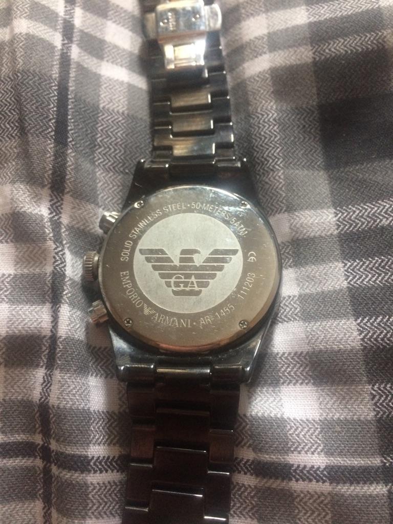 emporio armani AR 1455 men black watch