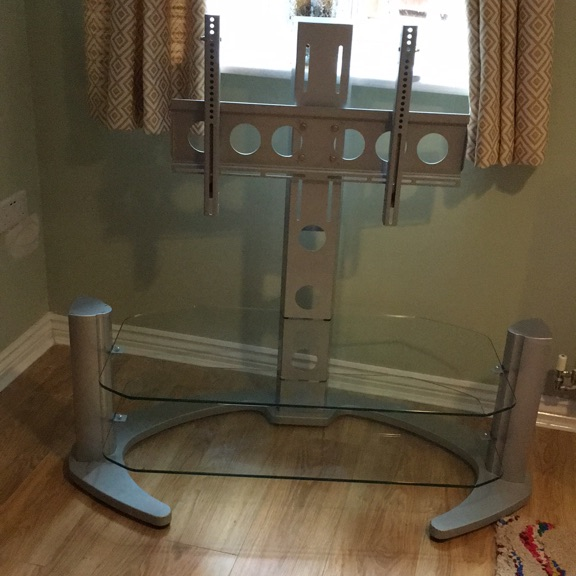 Large TV Stand with TV Bracket