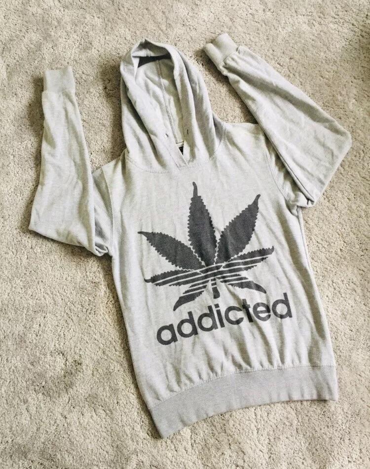 Ladies addicted grey hoodie