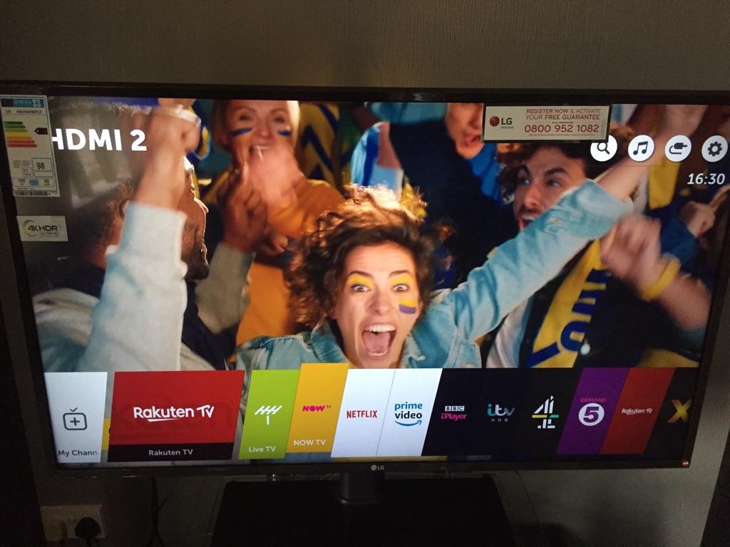 "4K tv smart uhd 43"""