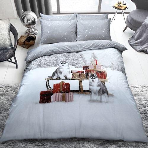 Christmas Husky Bedding