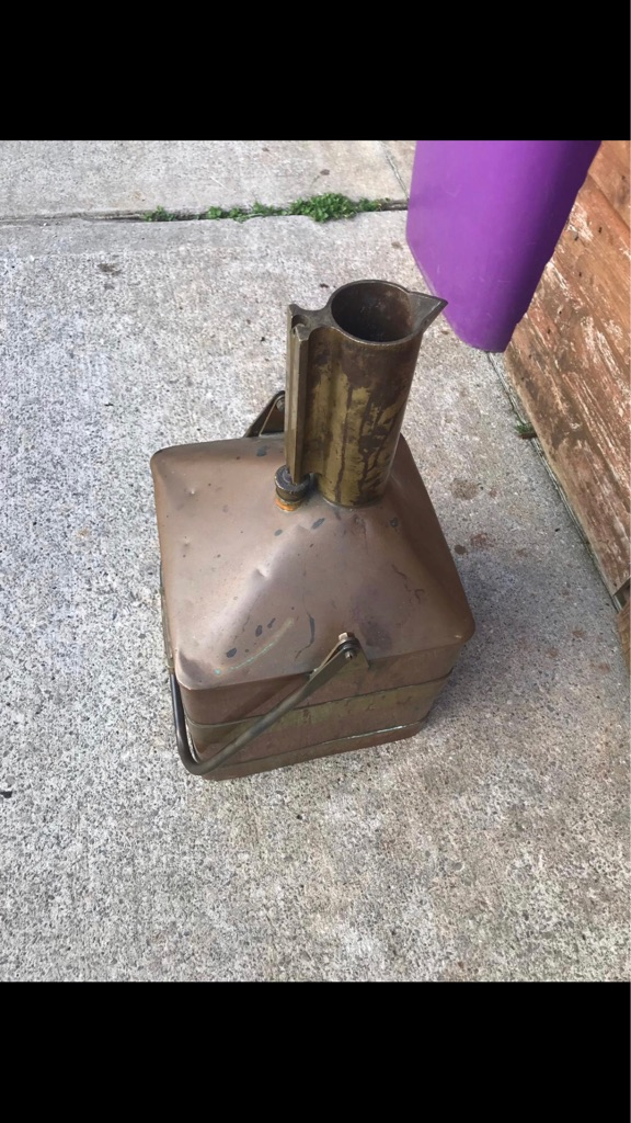Old antique oil can of some sort