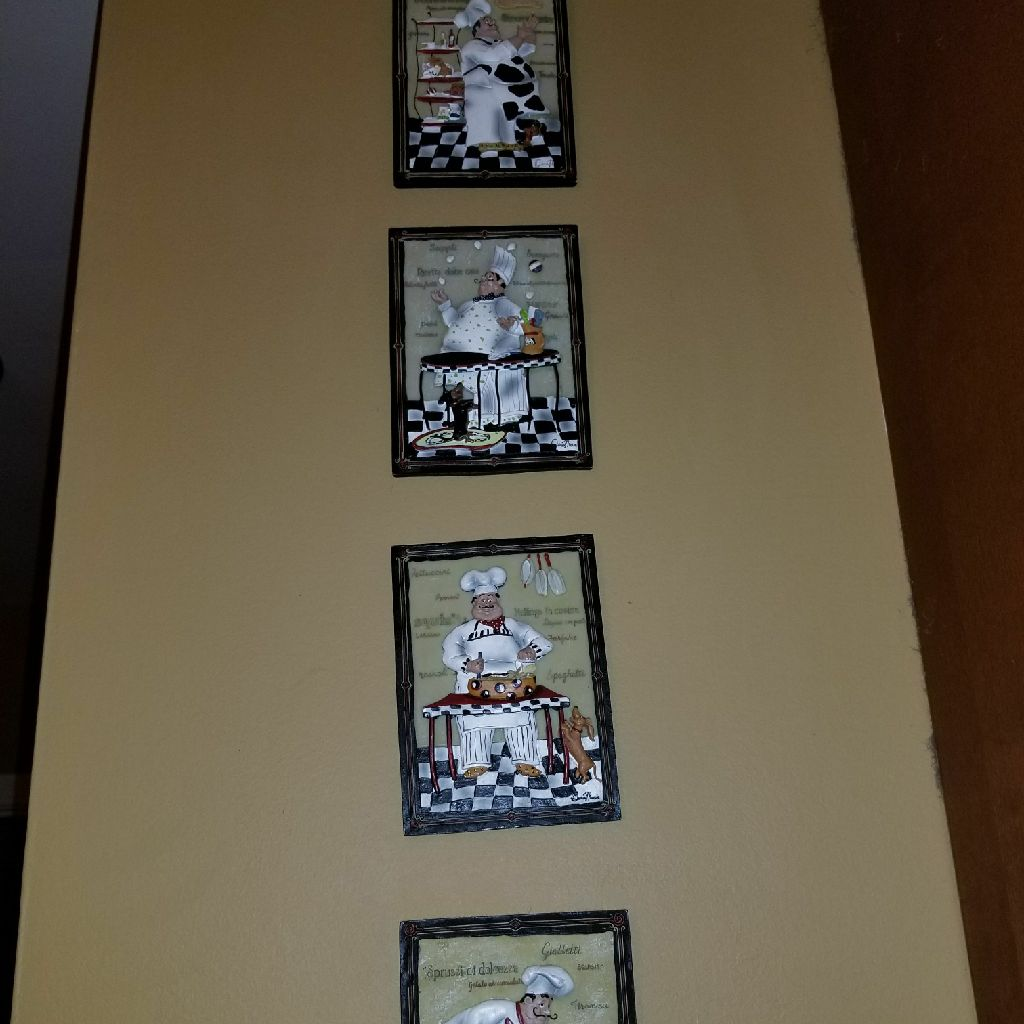 Decorative Little Chef Wall Hangings