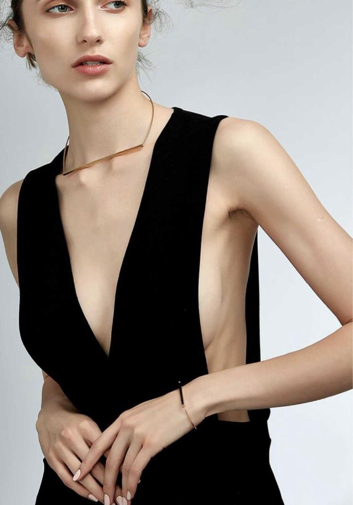 Slim Gold Choker Necklace