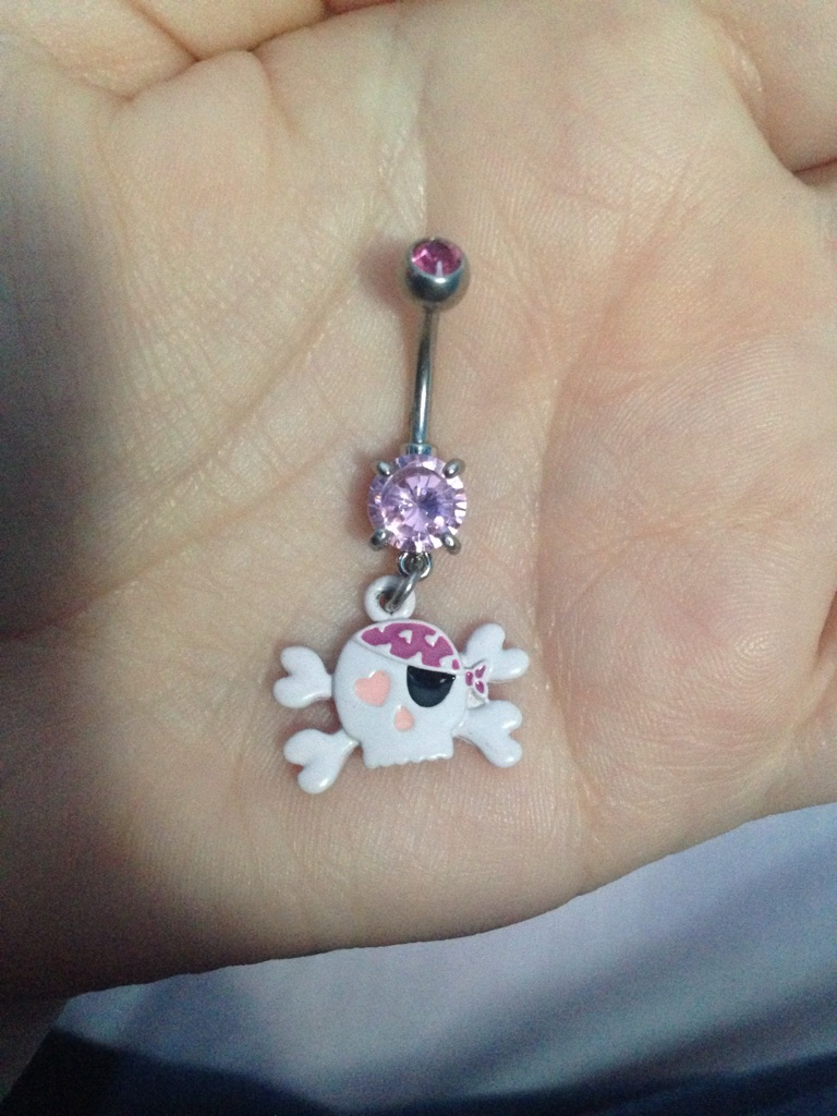 Brand New Pink Skull Belly Bar, Never Been Used