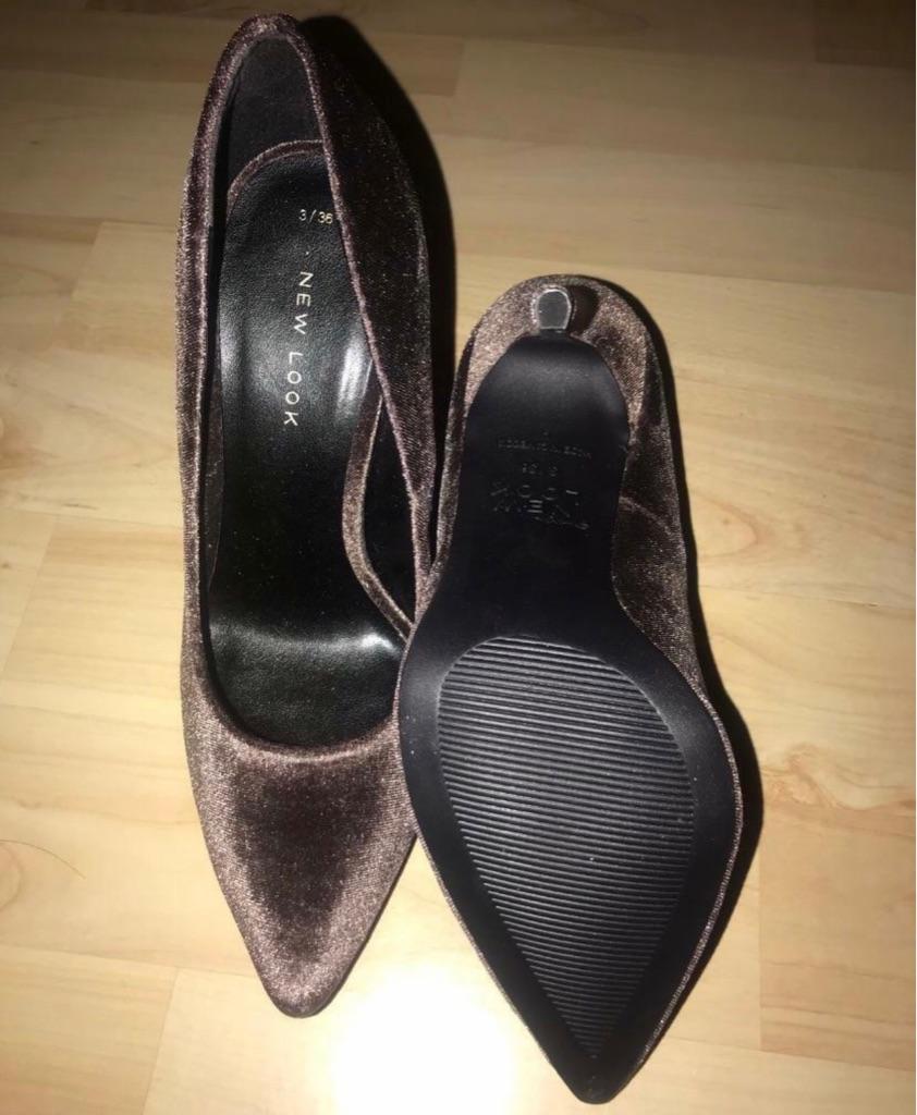 New Look Velvet Pointed Heels (UK 3)