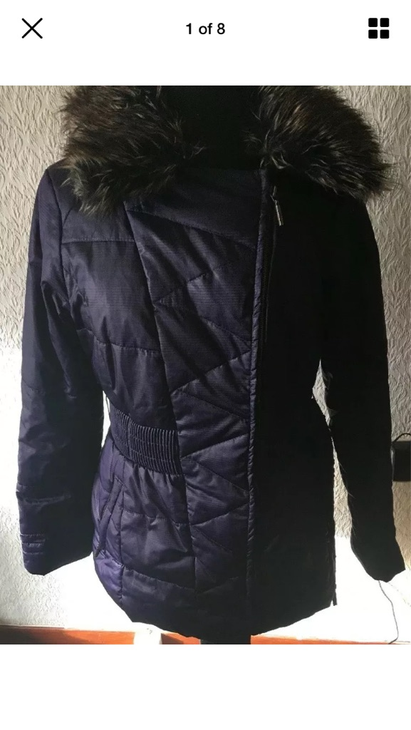 Jasper Conran jacket size 10 vgc purple