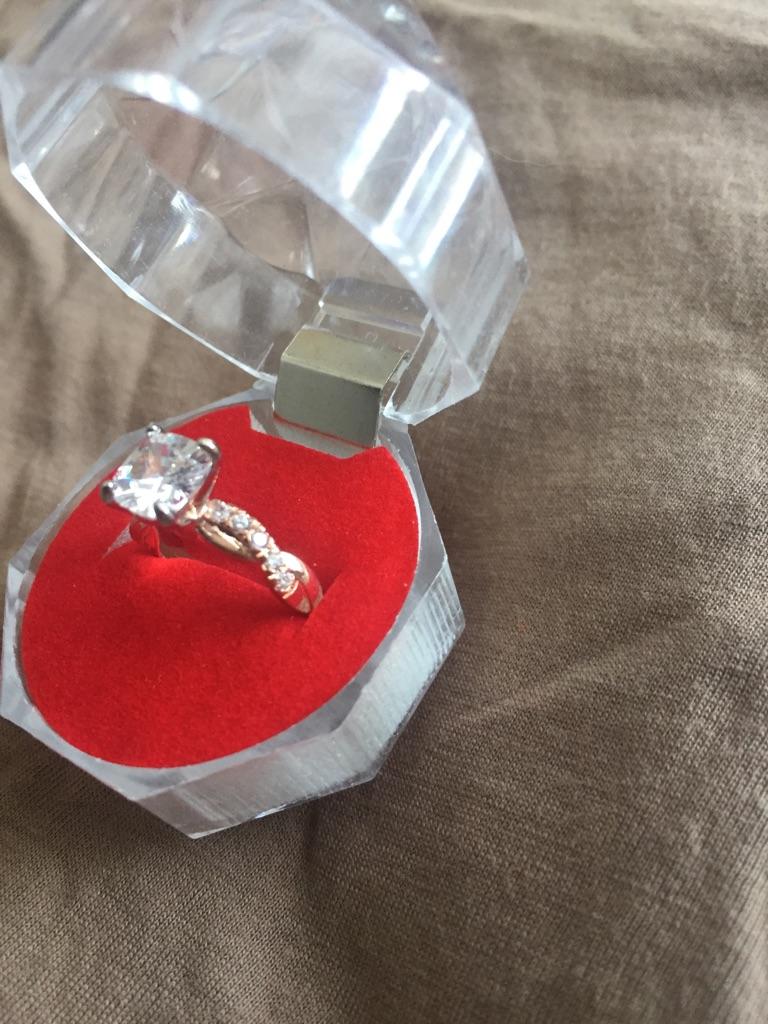 Rose gold ring size L