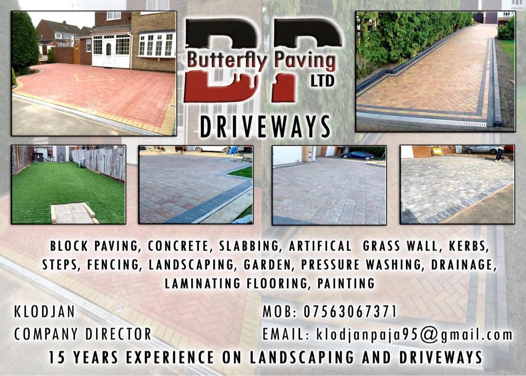 Garden and driveways
