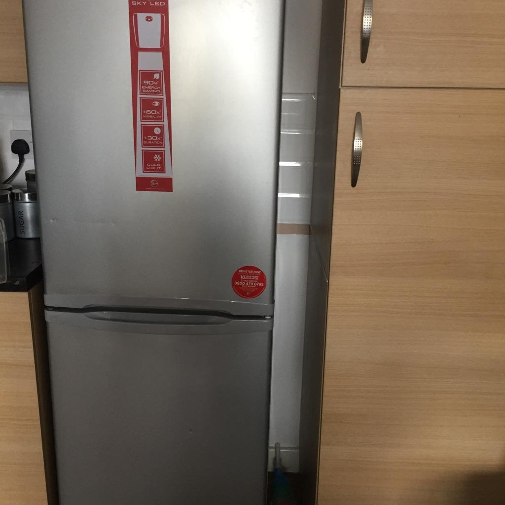 Hoover fridge freezer silver