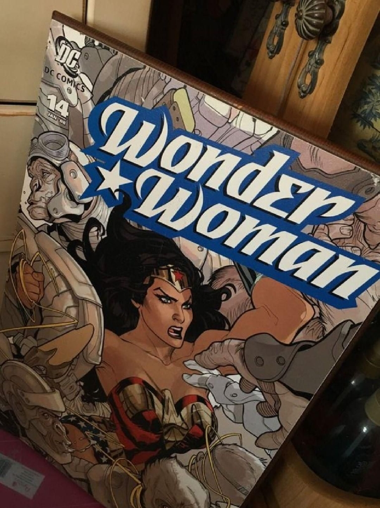DC wonder woman wall wood art