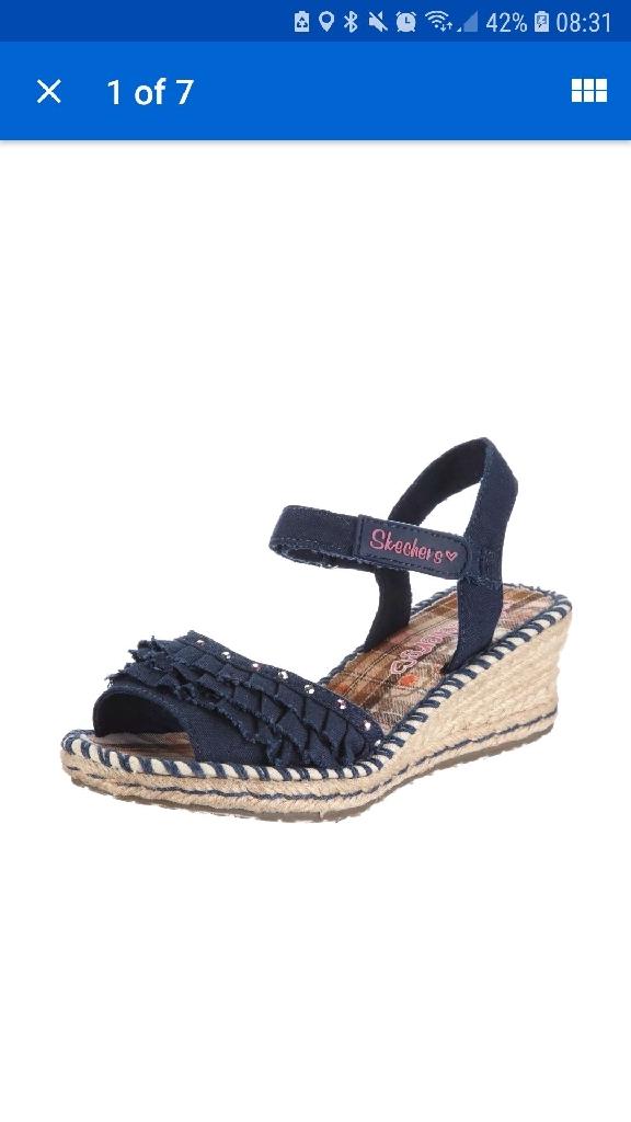 Sketchers Sandals Size 3 Girls