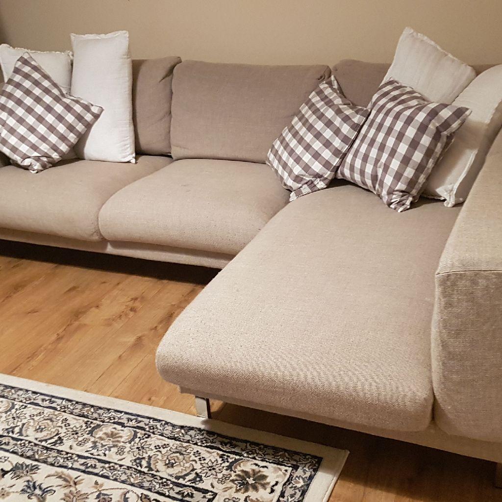 Corner Sofa Natural Beige