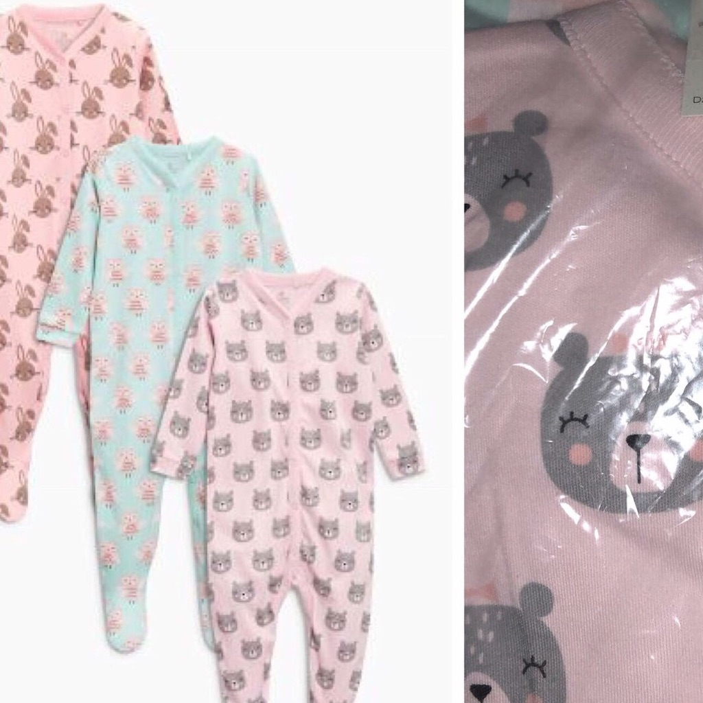 Girls Sleepsuits🎀Up to 3mths